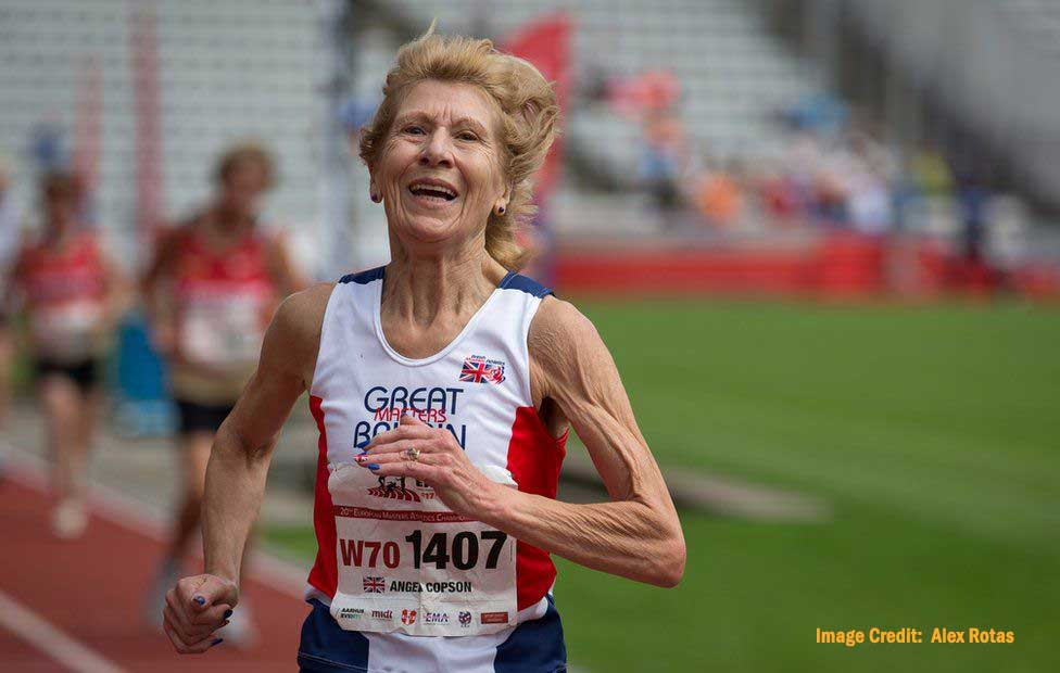 Senior Athlete Running